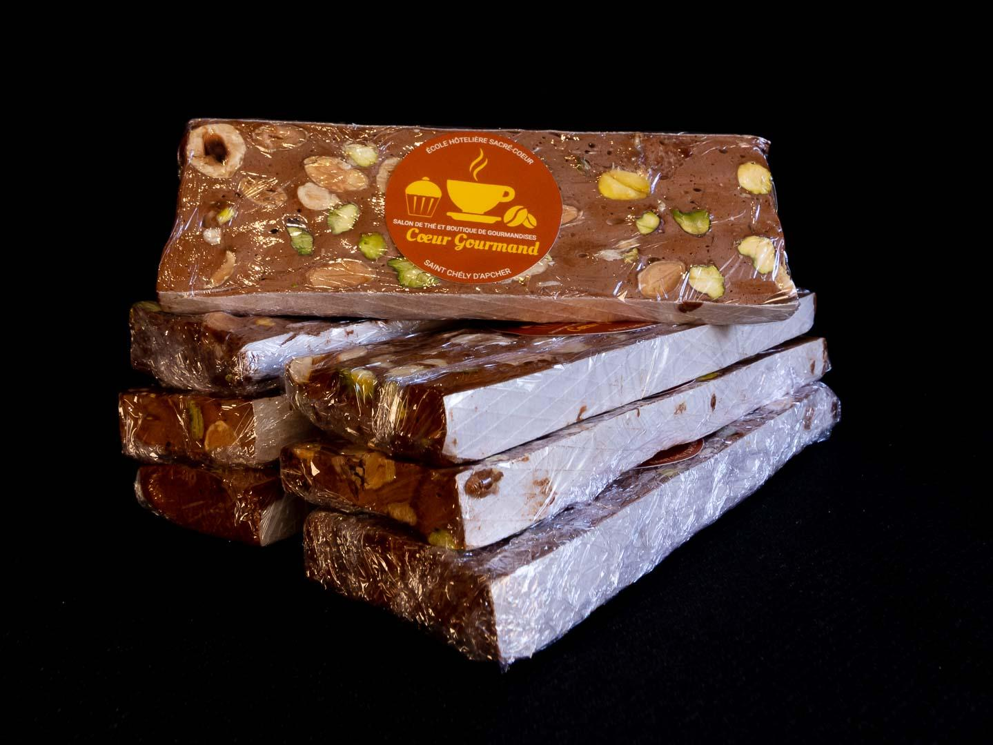 Nougat chocolat coeur gourmand